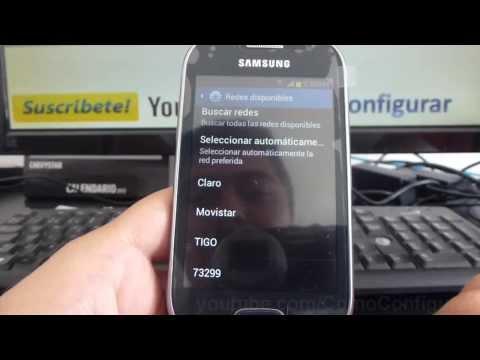 como buscar operador red en samsung Galaxy fame S6810 español Full HD