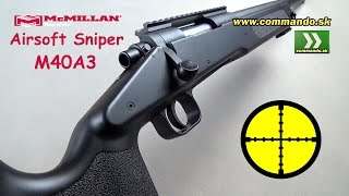 Airsoft Sniper McMillan M40A3 Spring 6mm
