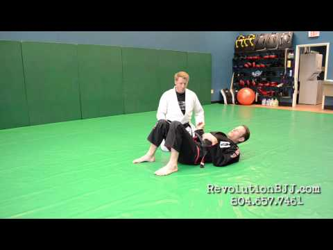 BJJ technique:  Advanced 100 Kilos side control escape (turning away;