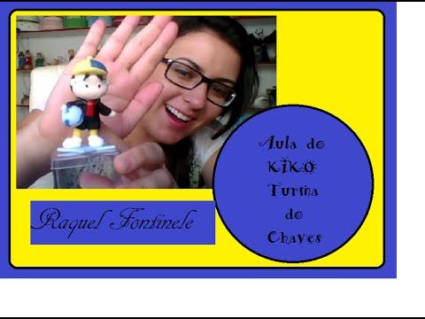 DIY- Aula de biscuit- Turma do Chaves- KIKO - Raquel Fontinele