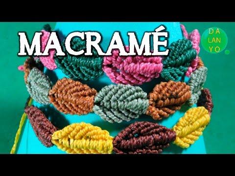 マクラメ編みで作る♡秋のリーフモチーフ