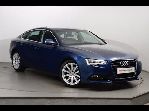GK15HZJ AUDI A5 SPORTBACK TDI SE TECHNIK BLUE 2015, Nottingham Audi