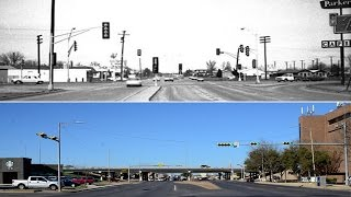 Wichita Falls Intersections Then and Now