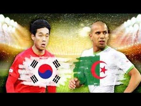 Algeria 4-2 Korea World Cup 2014 Brazil - الجزائر تواجه كوريا كأس العالم 2014