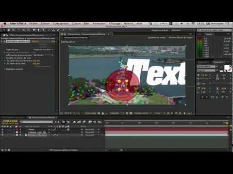 Tuto AE, Tracking 3D avec After Effects CS6