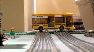 Lego Big Bang Bus Crash with Train