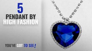 Top 10 High Fashion Pendant [2018]: Shining Diva The Famous Titanic Heart Of Ocean Pendant Necklace
