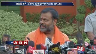 Swami Paripoornananda joins BJP in the presence of Amit Shah