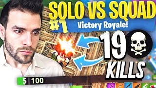 Le Meilleur Top1?🥇19 KILLS en SOLO vs SQUAD avec 5 HP ► Fortnite Top 1 Battle Royale