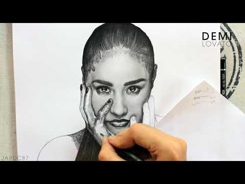 Drawing Demi Lovato (Album Cover) By Juan Andres