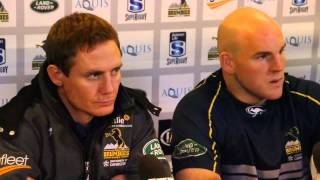 Post match presser: Brumbies Larkham & Moore on the Highlanders | Super Rugby Video