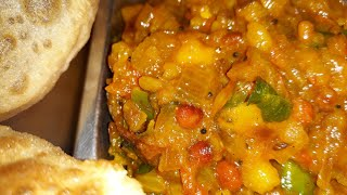Poori Masala/பூரி மசாலா/Simple leftover Potato poori masala/மிஞ்சிய உருளைக்கிழங்கு பூரி மசாலா