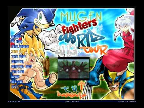 M.U.G.E.N Fighters World Tour 2013 Preview 35% Complete
