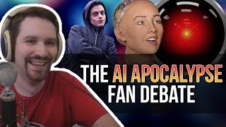 Artificial Intelligence Debate with Fans
