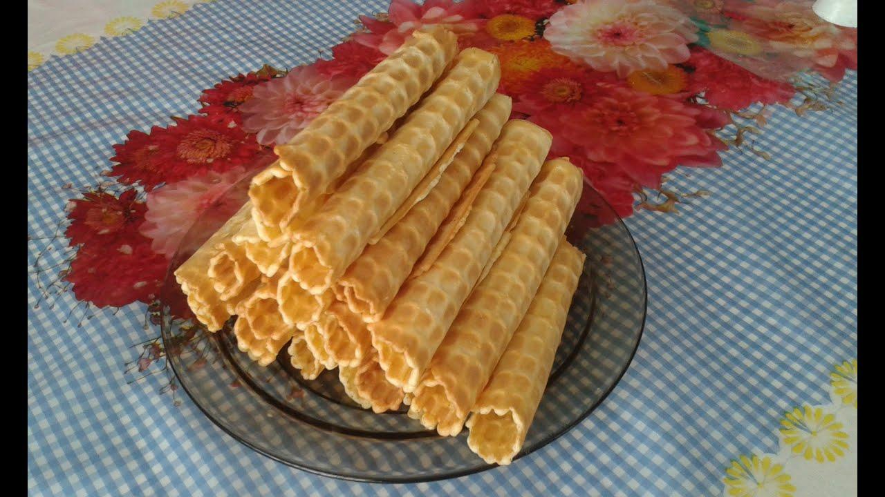 Как готовить вафельные трубочки пошагово фото