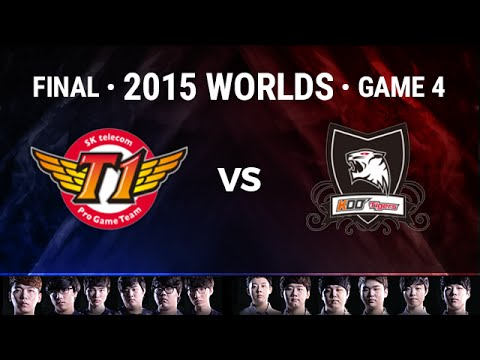 SKT Telecom T1 vs KOO Tigers Full Game 4 | 2015 LoL World Championship | SKT vs KOO G4