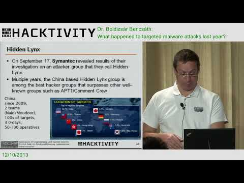 Dr. Boldizsár Bencsáth - What happened to targeted malware attacks last year?