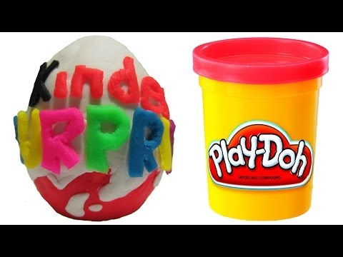 Play Doh Kinder Surprise Egg with Surprise Toy Inside Play-Doh Kinder Surprise Magic Squashing