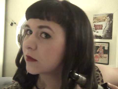 Bettie Page Bangs With Short Hair Bettie Page Hair Tutorial