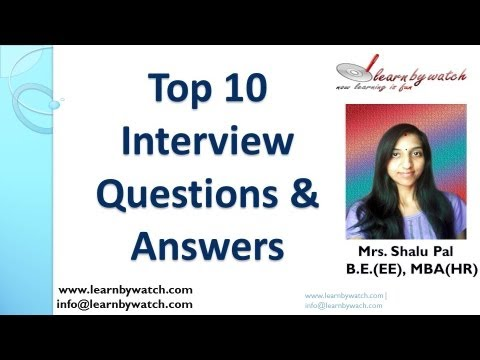 Top 10 Interview Questions And Answers (english) video