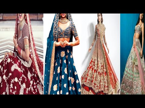 Designer beautiful colour Bridal lehenga 2018-19,New look with unique awosame design outfit
