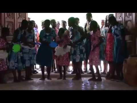 Drumming & Dancing at Akoma Academy Ghana Tour Oct 2015