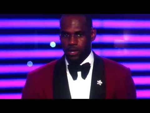 LeBron's hilarious acceptance speech at the 2013 Espy's