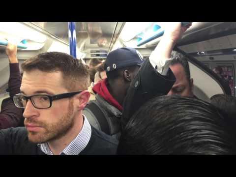 London Underground Victoria line rush hour