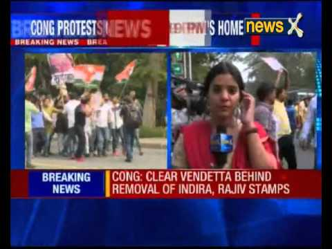 Youth Congress protests outside Telecom Minister's residence