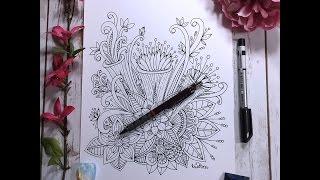 speed drawing   flower designs