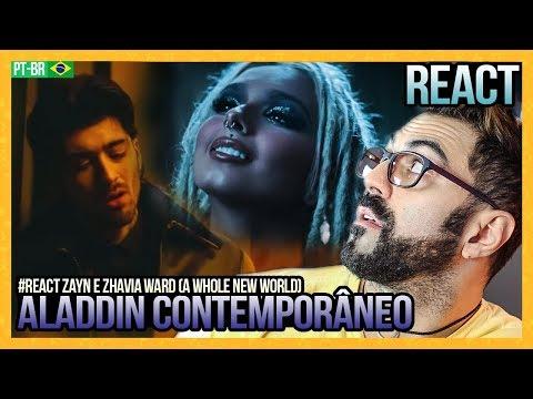 "REAGINDO A ZAYN, Zhavia Ward - A Whole New World (End Title) (From ""Aladdin"")"