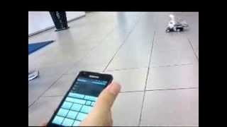 Remote and voice control wheel chair model with android system