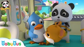 Good Manners On The Bus | Baby Panda Takes the Bus | Kids Good Habits | BabyBus