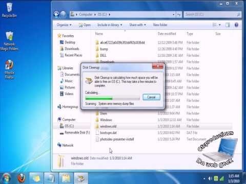 how to delete windows.old youtube
