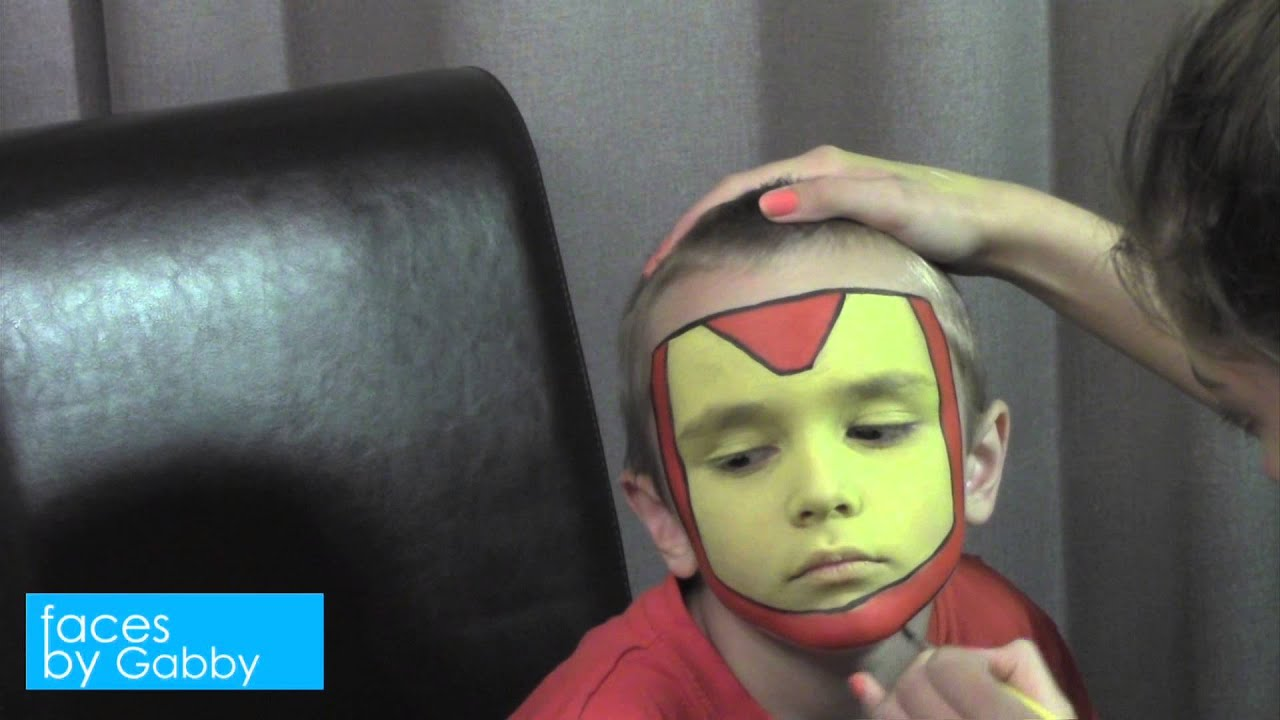 Iron Man Face Paint Faces by Gabby Iron Man