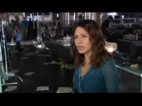 Sarah Shahi - Interview About Life (NBC) filming