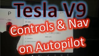 Tesla Model 3 V9 New Controls and Nav on Autopilot