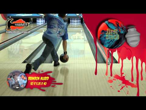 Hammer First Blood Bowling Ball thrown by Brandon Allred of K&K Bowling Services
