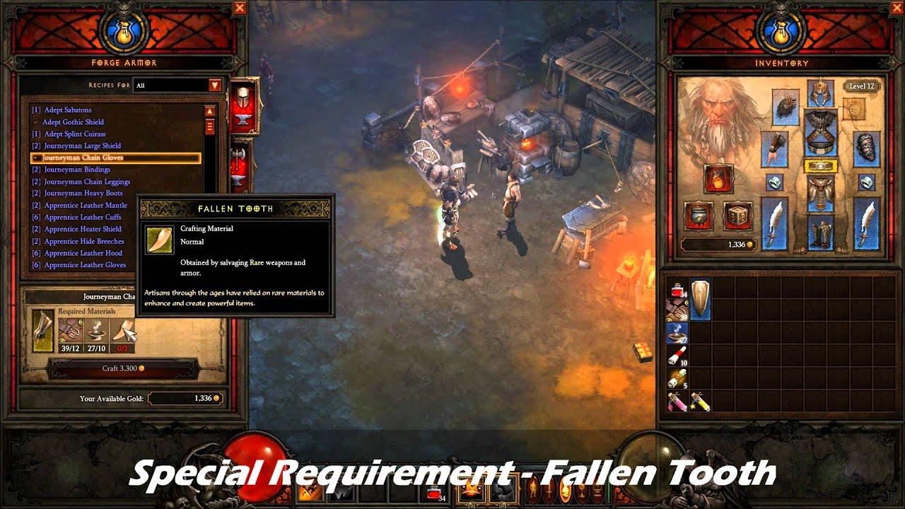 Diablo iii beta video series rare item crafting youtube for Diablo 3 crafting items