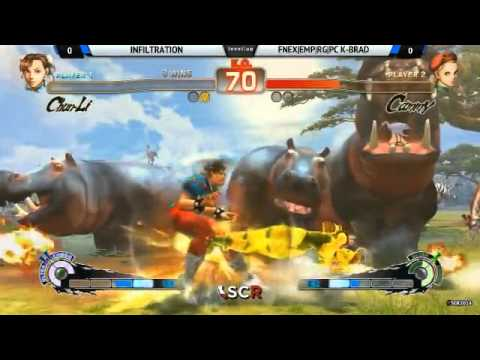 SCR 2014 - Infiltration (Chun-Li) vs. K-Brad (Cammy) - AE Grand Finals