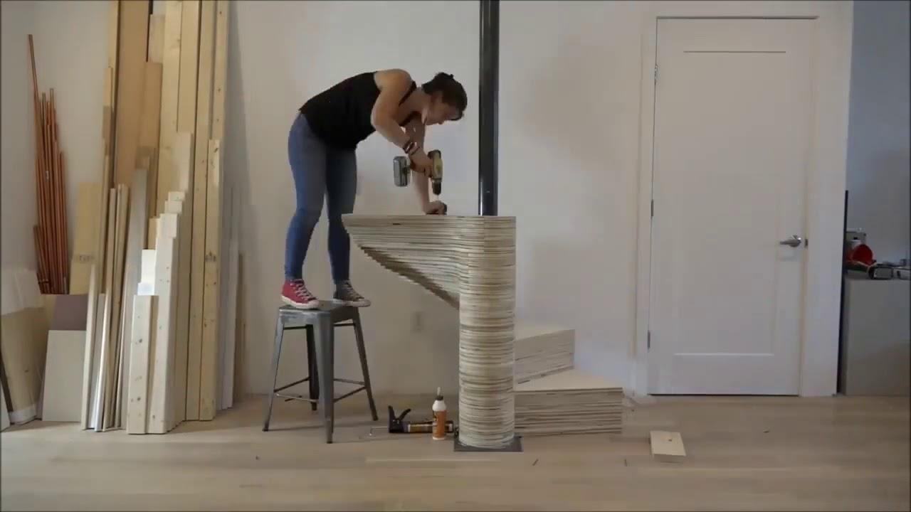 Как сделать лестницу из фанеры своими руками 2