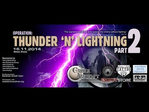 Operation Thunder and Lightning 2 (post-apocalyptic airsoft scenario) Athens, Greece 16 Nov 2014