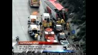 VH1 Reality Show Bus Crashes In California Causing Major Slut Spill