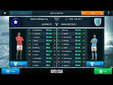 Legend fc vs Manchester city - Dream League Soccer Indonesia
