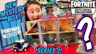 MYSTERY BOX OF NEW FORTNITE TOYS! BATTLE ROYALE FIGURE COLLECTION SERIES 2 UNBOXING! ATK & GLIDER!