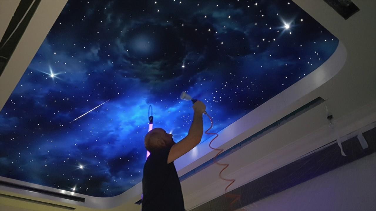 Как сделать на потолке эффекты 187