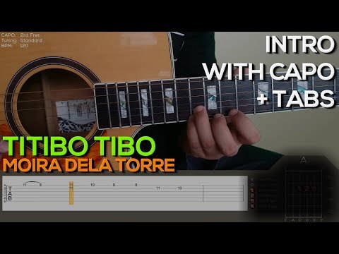 Titibo tibo [INTRO] Guitar Tutorial with (TABS on SCREEN)