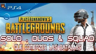 PLAYERUNKNOWN'S BATTLEGROUNDS / PS4 / VICTORIA EN SOLO DESPUES DE  SALIR RUBGALO