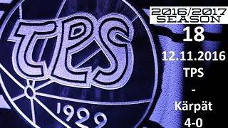 18. TPS - KÄRPÄT 2016-2017 12.11.2016 MAALIT