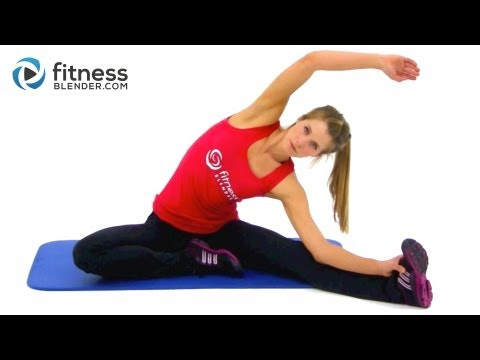 Lower Body Stretching Routine For Flexibility - Fitness Blender Cool Down Stretches